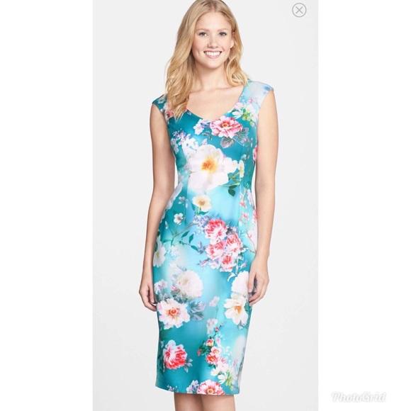 Maggy London Dresses Print Scuba Midi Dress Poshmark